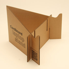Photo of cardboard laptop stand